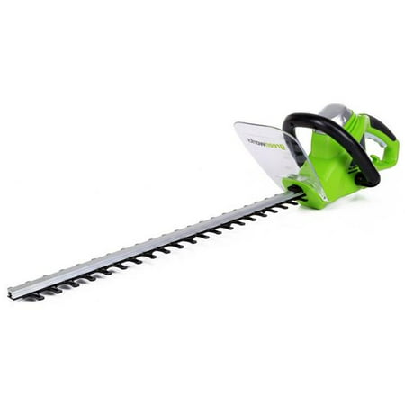 "Image of ""Greenworks 22"""" 4 Amp Corded Electric Hedge Trimmer"""