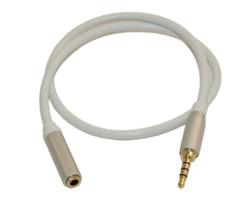 Mic or Video EXTENSION Cable 1.5ft PREMIUM 3.5mm 4 Conductor TRRS//3 Band