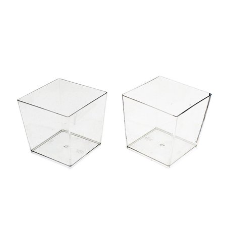 Clear Plastic Square Mousse Dessert cups - 40 count](Mini Plastic Cups For Desserts)