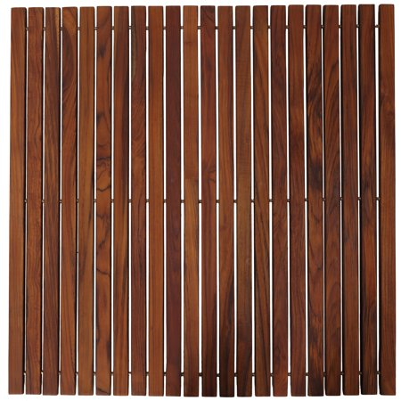 Bare Decor Fuji String Spa Shower Mat in Solid Teak Wood Oiled ...