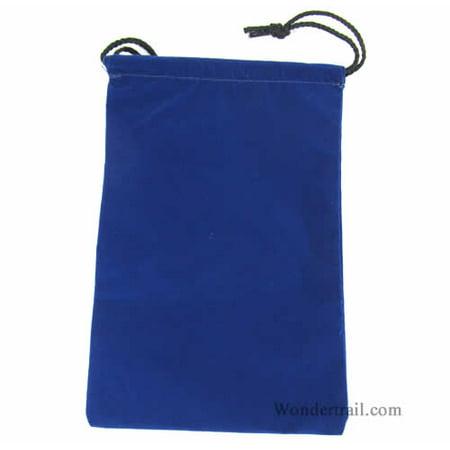 Large Game Bag - Blue Large Cloth Dice Bag (6in x 9in) Koplow Games