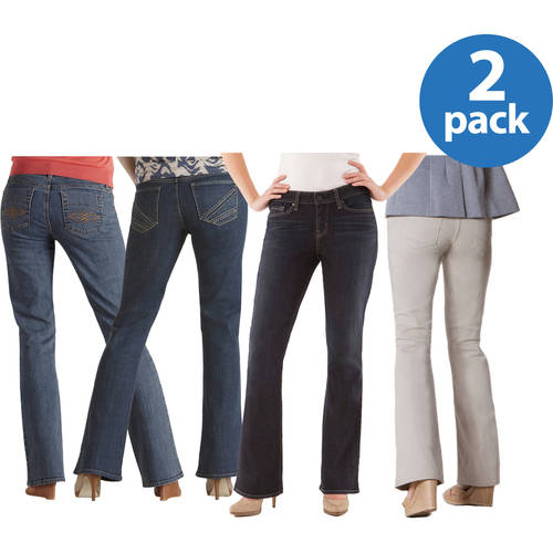 Signature by Levi Strauss & Co. Women's Modern Bootcut Jeans 2pk Value Bundle