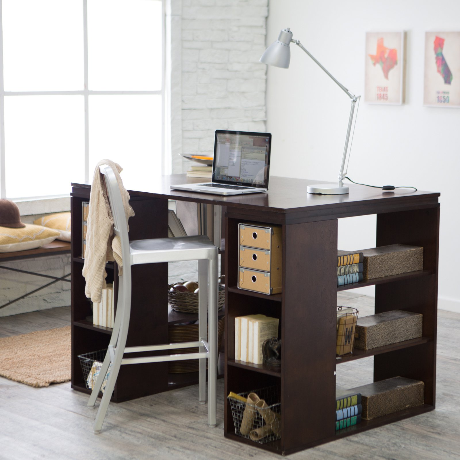 Belham living sullivan counter height desk espresso walmart com