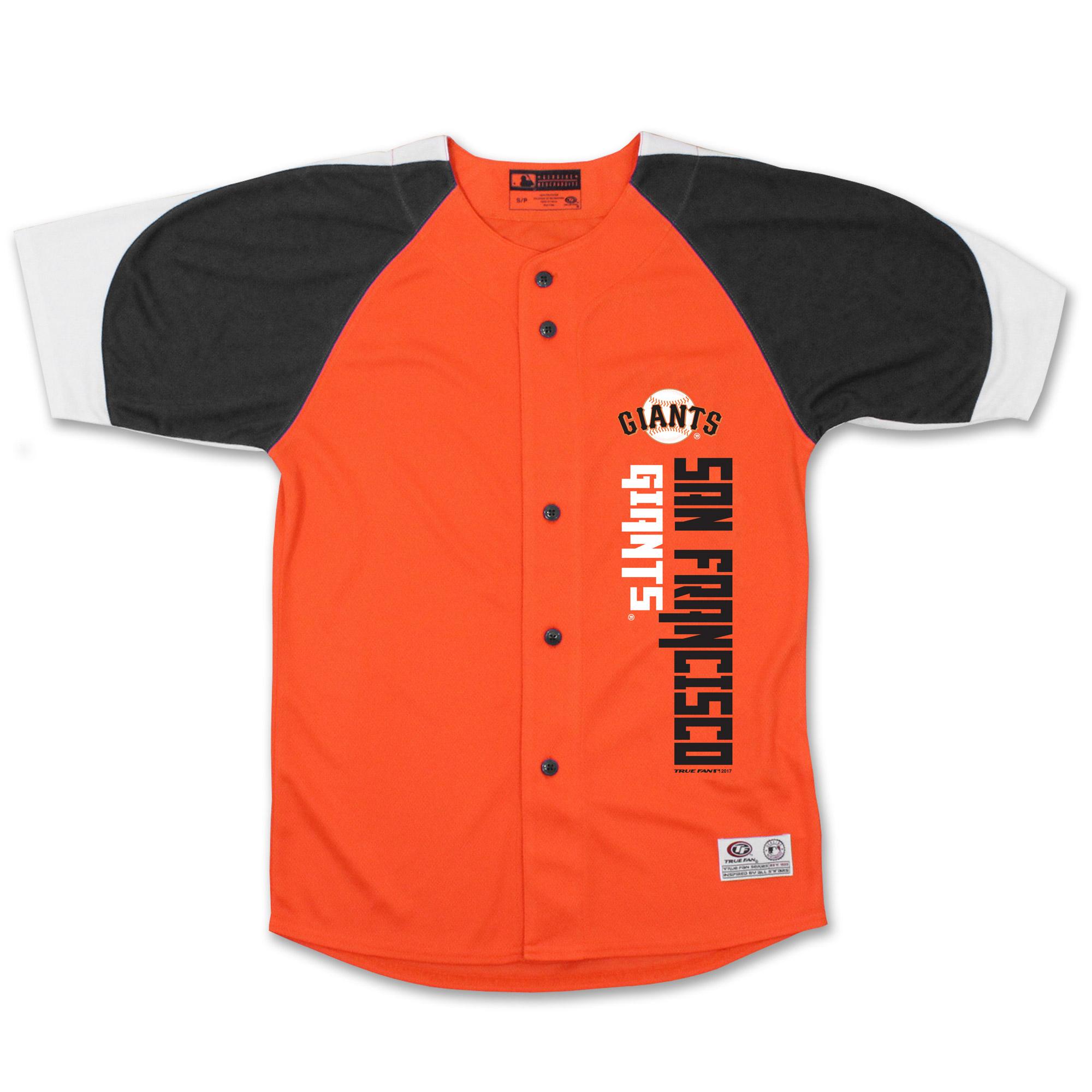 San Francisco Giants Stitches Youth Vertical Jersey - Orange/Black