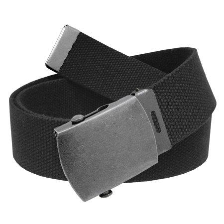 All Sizes Men's Golf Belt in 1.5 Antique Silver Slider Belt Buckle with Adjustable Canvas Web Belt Small (Catchers Slider Shorts)