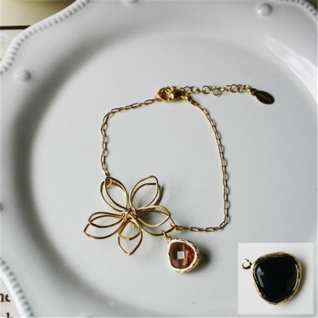 Rebecca Flower Wire Bracelet - Gold