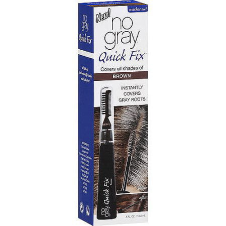 No Gray Quick Fix Hair Color, Waterproof Roots Touch-Up for Brown Hair
