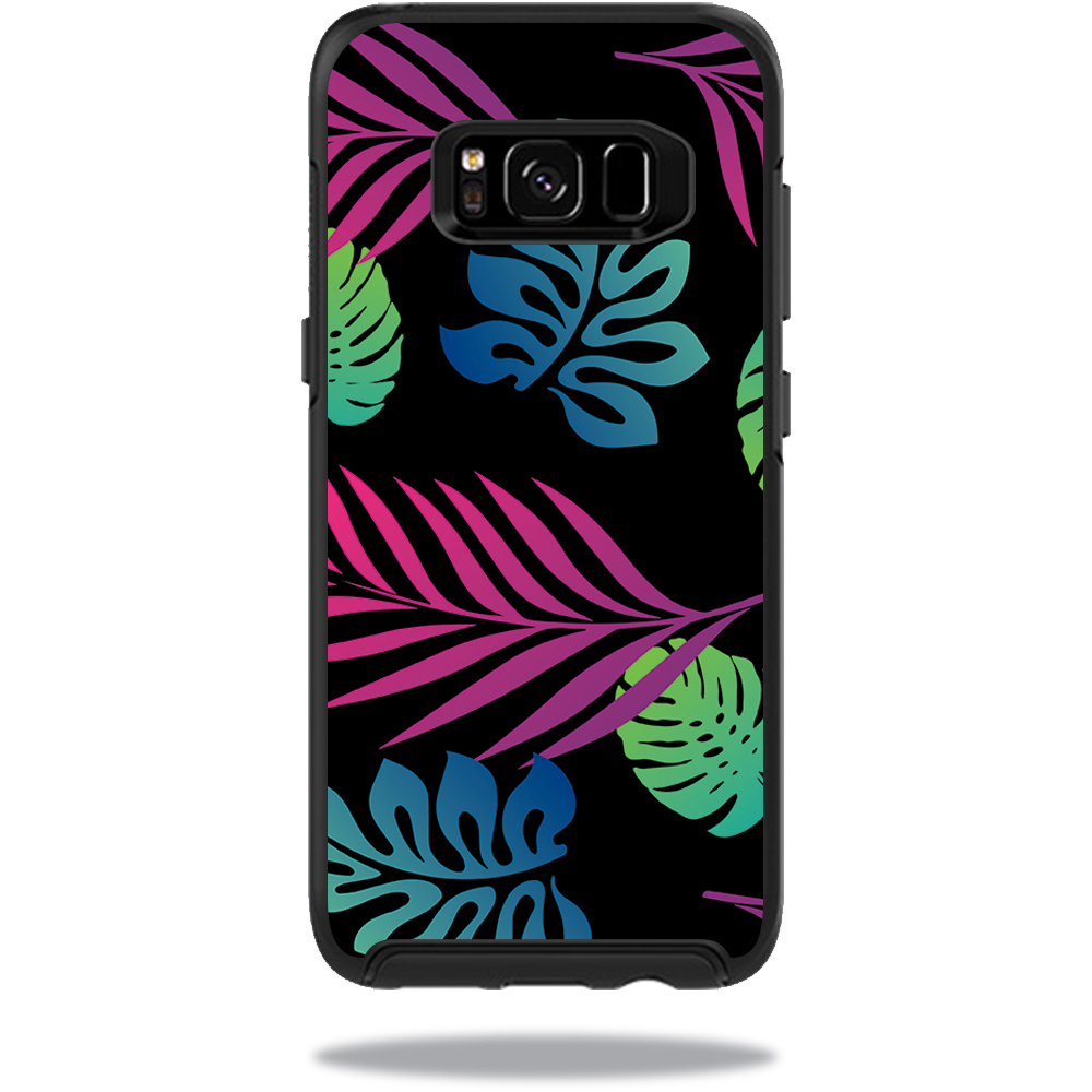MightySkins Protective Vinyl Skin Decal for OtterBox SymmetrySamsung Galaxy S8 Case sticker wrap cover sticker skins Neon Tropics