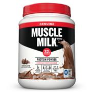 Muscle Milk Genuine Protein Powder, 32g Protein, Chocolate, 1.93 Pound, 12 Servings