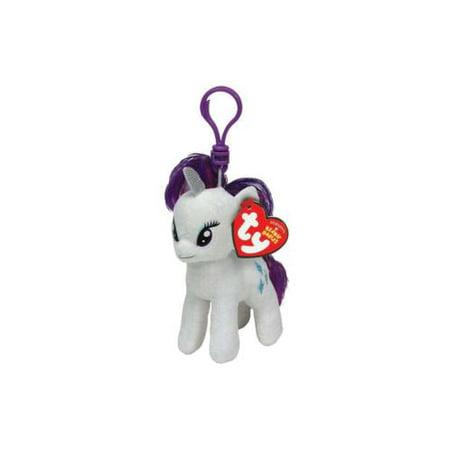 My Little Pony Beanie Babies Rarity Clip Plush