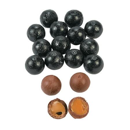 Fun Express - Black Caramel Chocolate Balls (1lb) - Edibles - Chocolate - Non Branded Chocolate - 37 Pieces (Fun Halloween Caramel Apples)