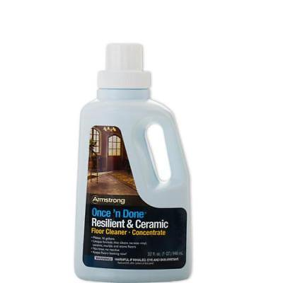 Armstrong Once N Done No Rinse Floor Cleaner Concentrate 32 Oz S 338