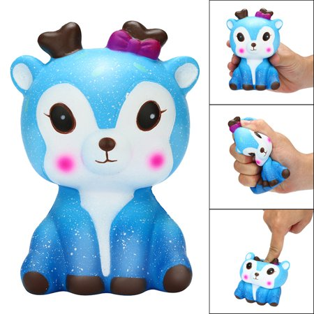 Outtop Kawaii Cartoon Galaxy Deer Squishy Slow Rising Cream Scented Stress Reliever Toy