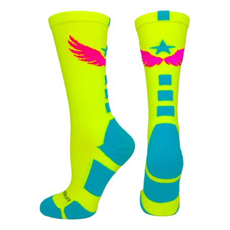 8700b72c936 Light Speed Athletic Crew Socks (Neon Yellow Electric Blue Neon Pink