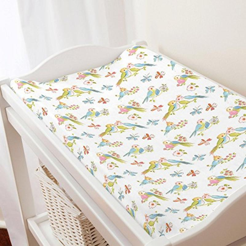 Carousel Love Birds Changing Pad Cover
