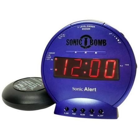 Sonic Alert SA-SBB500SS-B Sonic Bomb Vibrating Alarm Clock - Blue