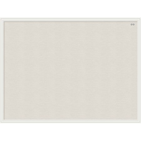 U Brands Linen Bulletin Board, 40 x 30 Inches, White Décor