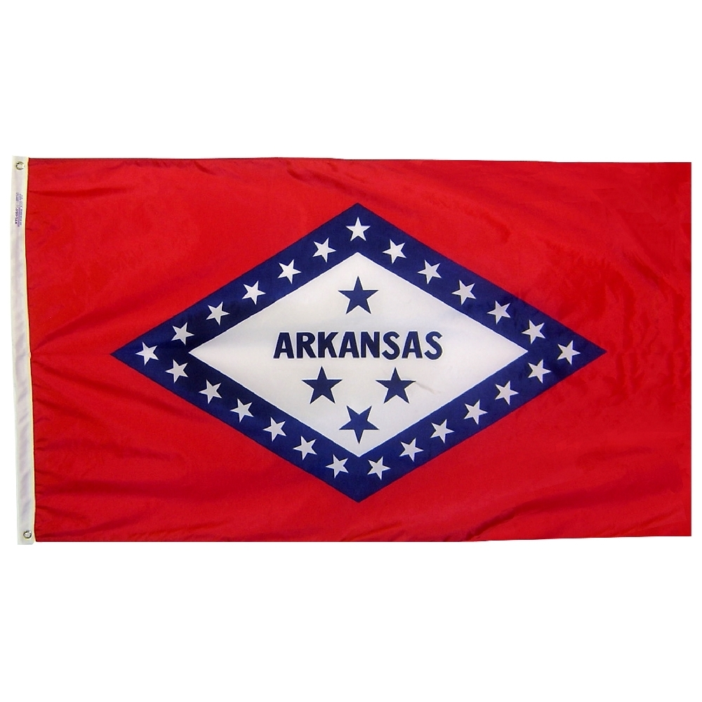 Arkansas State Flag 3x5 ft. Nylon Official State Design Specifications.