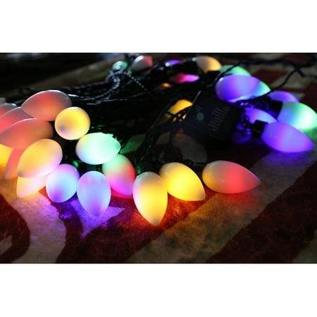 Christmas Festival 40 ct Low Voltage C9 Light - Warm White & Multi Color - 38 ft