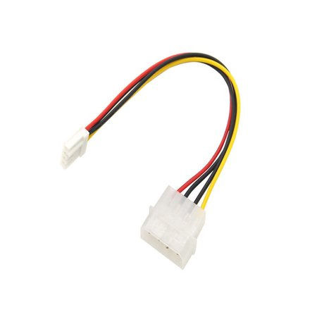 4 Pin Molex To 3.5 Floppy Drive FDD Internal Power Cable Adaptor