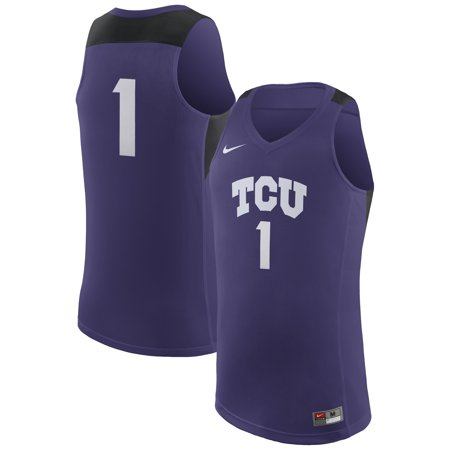 - TCU Horned Frogs Nike College Replica Basketball Jersey - Purple