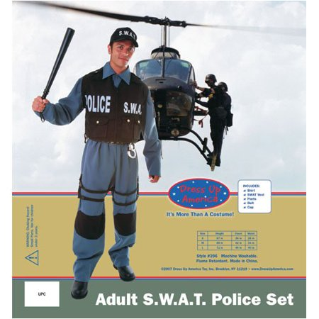 Dress Up America 396-L Deluxe Adult S.W.A.T. Police Officer - Size - An Officer And A Gentleman Costume
