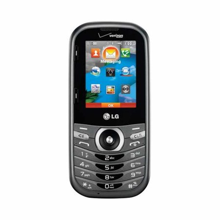 New Lg Cosmos 3 Vn251s Four Line Qwerty Keyboard 2   Display 1800Mah Battery 1 3 Mp Camera Phone   Gray