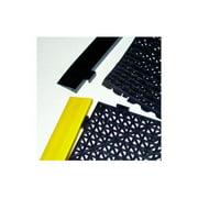 buyMATS 49-422-1100-01200003 12 In. x 3 ft. Grid-Step 0.75 In. Modular Tile Interlocking System PVC - Female Border Ramp, Red
