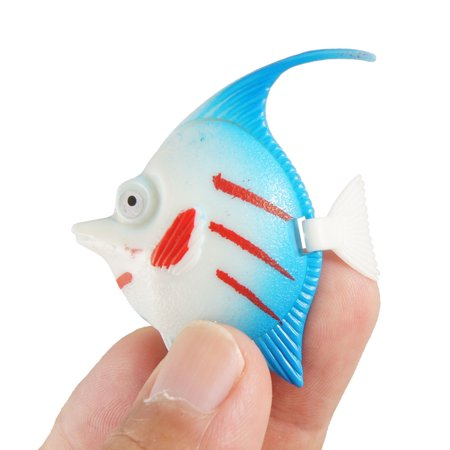 Tank Aquarium Aquascaping Swing Tail Fish White Blue - image 1 de 2