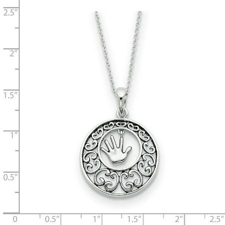 Sterling Silver Antiqued Children 18in Necklace 18 Inch - image 1 de 3