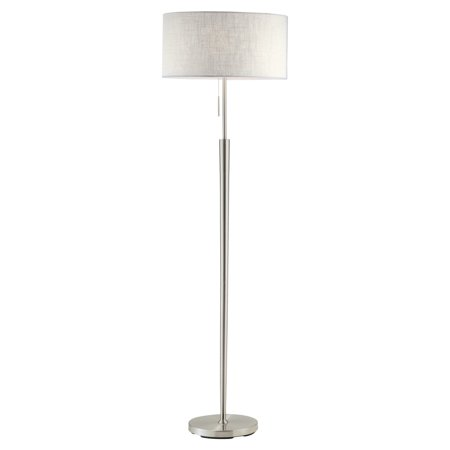 Adesso Hayworth 3457 Floor Lamp - Satin Steel