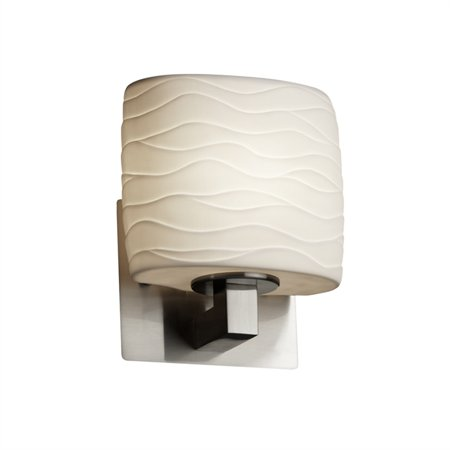 Justice Designs Limoges Modular 1-LT Wall Sconce - Brushed Nickel -