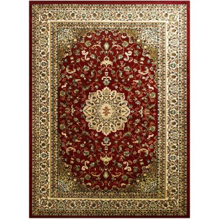 Lyke Home Mckayla Red Area Rug  5 X 8