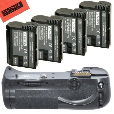 Battery Grip Kit for Nikon D800, D810 Digital SLR Camera Includes Qty 4 Replacement EN-EL15 Batteries + Vertical Battery Grip + More!!
