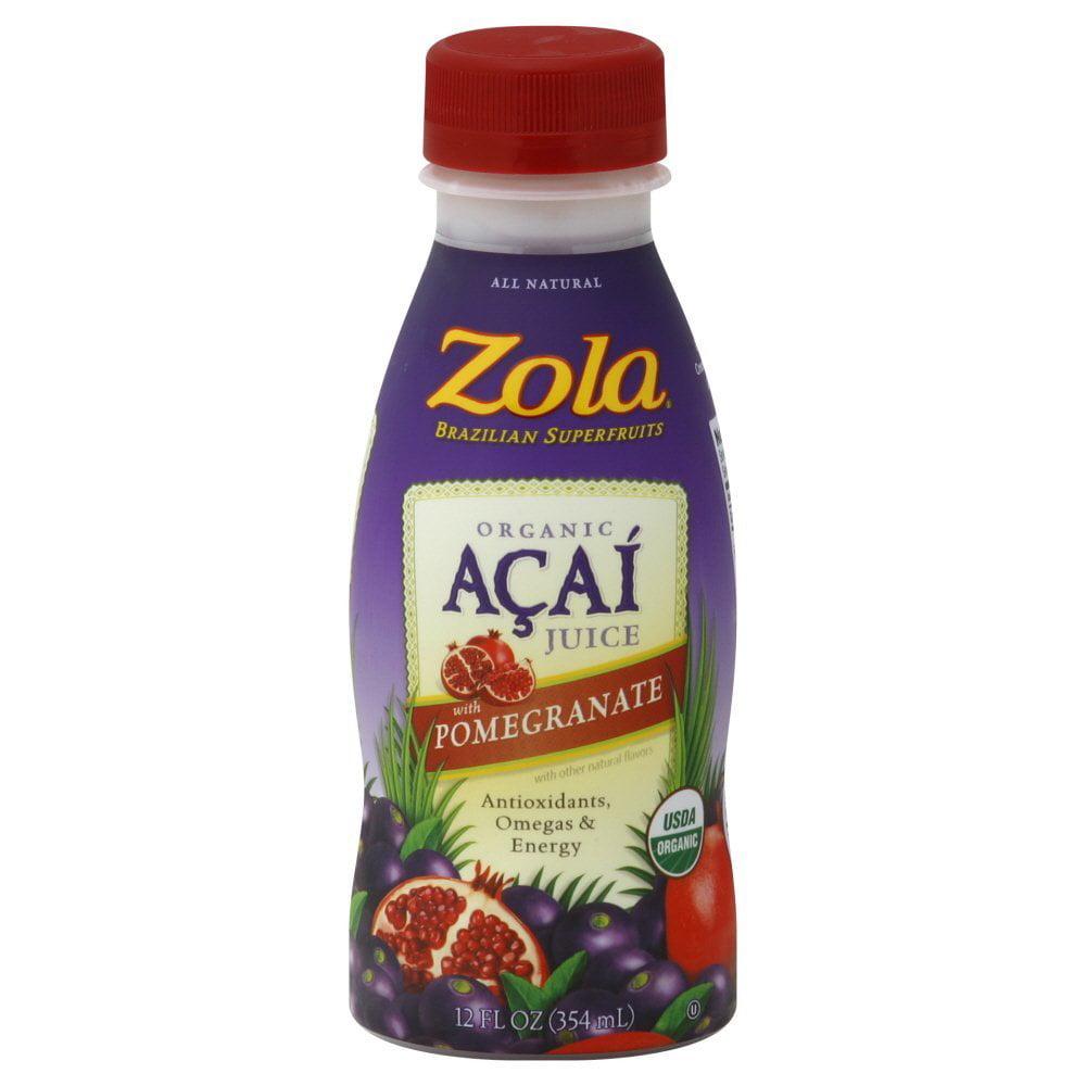 Zola Acai Acai + Pomegranate Juice 12-Ounce Bottles (Pack of 12)