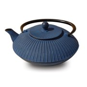 "27 Oz. Blue Cast Iron ""Fidelity"" Teapot"