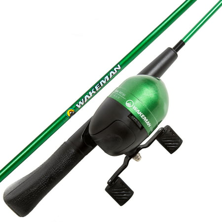Spawn Series Kids Spincast Combo Fishing Pole and Tackle Set by Wakeman (Vintage Fishing Pole)