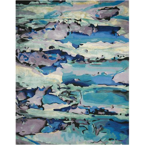 "Nourison 3'9"" x 5'9"" Prismatic Seaglass Rectangle Area Rug by Nourison"