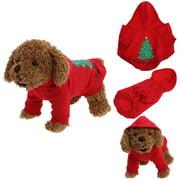 Pet dog tattoo teddy bear pajamas christmas clothes sunglasses M