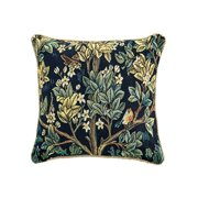Signare William Morris Tree of Life Tapestry Pillow Covers - Decorative Art Throw Cushion Case - Blue or Red