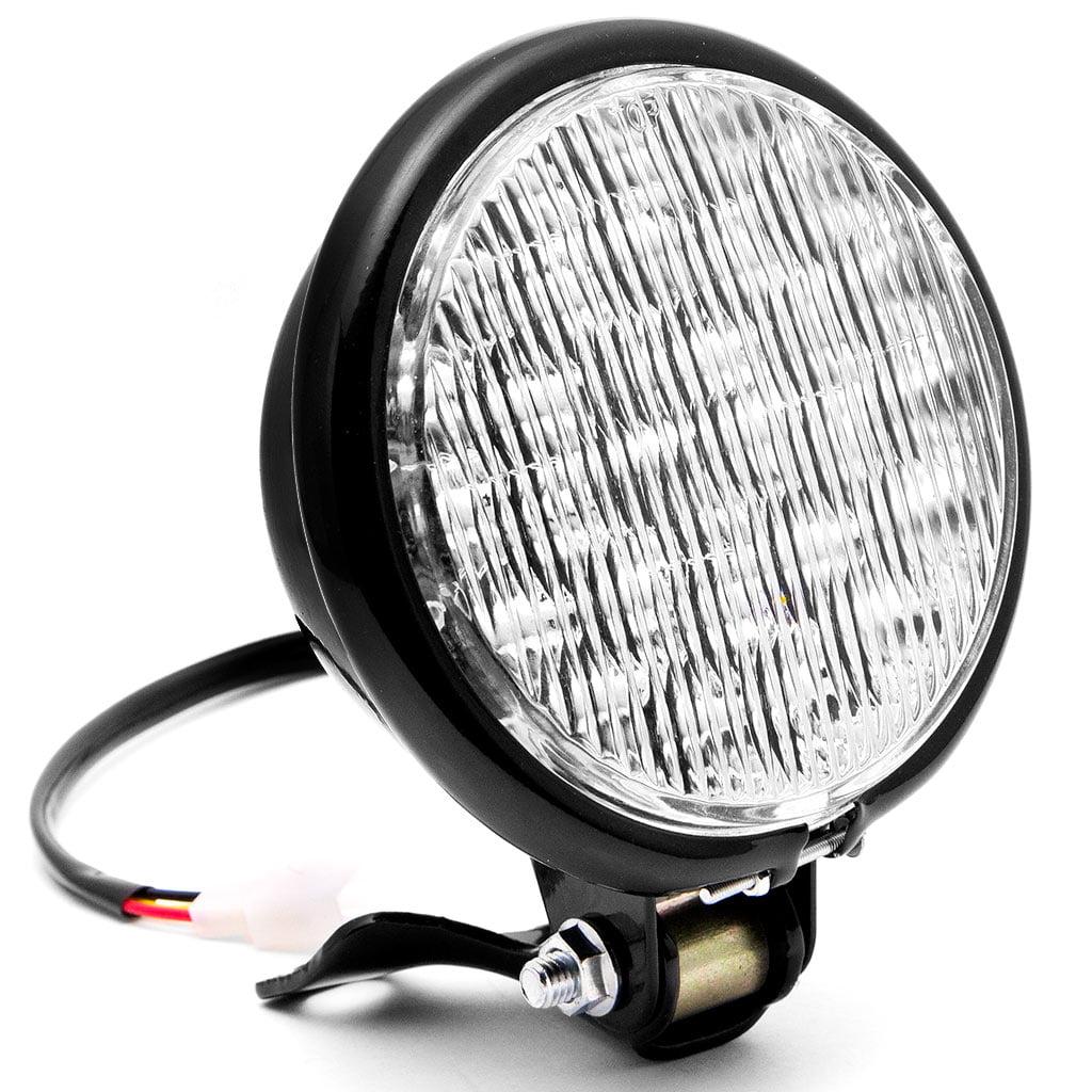 "Krator 5"" Black LED Headlight with Light Mounting Bracket for Yamaha TX SR CS YX RD 350 400 500 600 650 750"