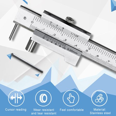 200mm Measure Scale Ruler 0.05mm Accurate Parallel Line Digital Vernier Caliper Carbon steel+Stainless Steel for Iron Wood Color:Silver - image 7 of 8