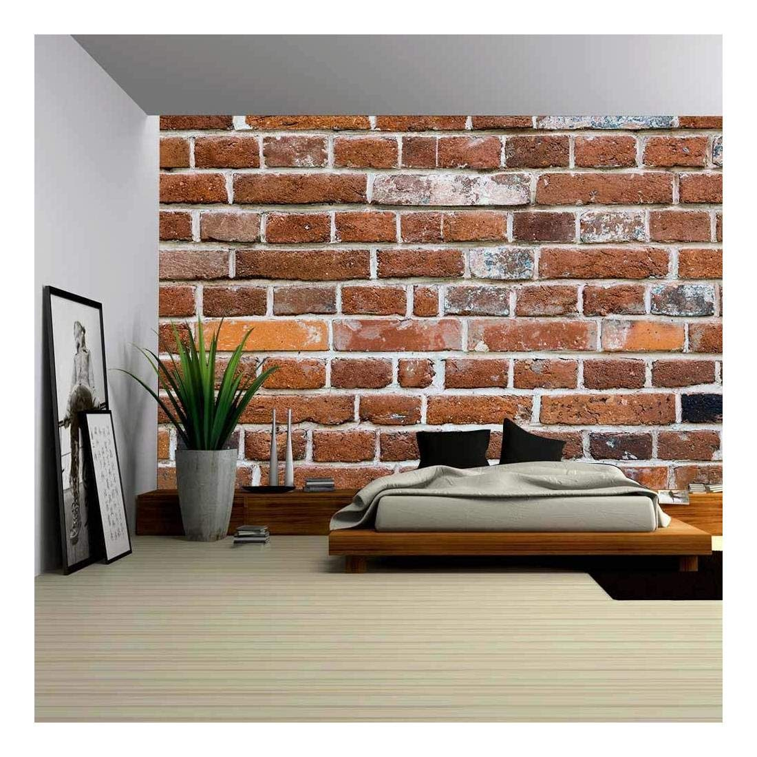 wall26 - Old Brick Wall. Texture for Background - Removable Wall Mural | Self-Adhesive Large Wallpaper - 100x144 inches