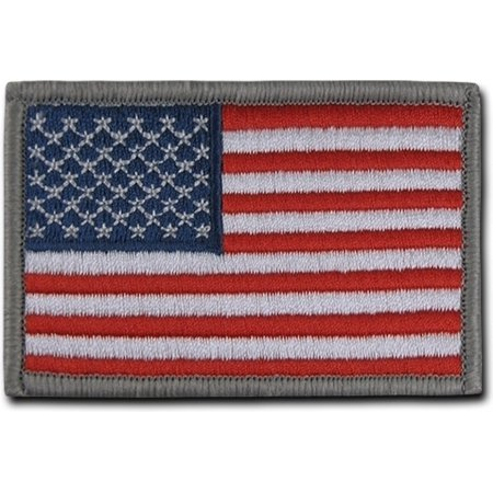 RapDom USA Flag Canvas H&L Velcro-Back Patch [2-Pack - Original 2 - 3x2