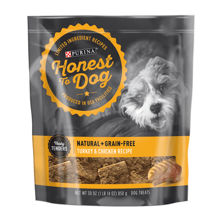 Honest To Dog Limited Ingredient, Grain Free Dog Treats; Turkey & Chicken Recipe - 30 oz.