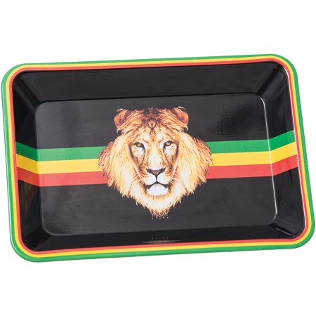 "Mini Rasta/Lion Rolling Tray - 5""x7"""