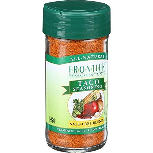 Frontier Taco Salt-Free Seasoning -- 2.25 oz ( Multi-Pack)