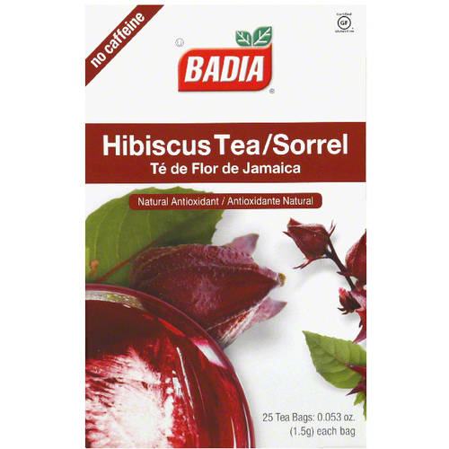 Badia Decaffeinated Hibiscus Tea Bags, 0.053 oz, 25 count  (Pack of 10)
