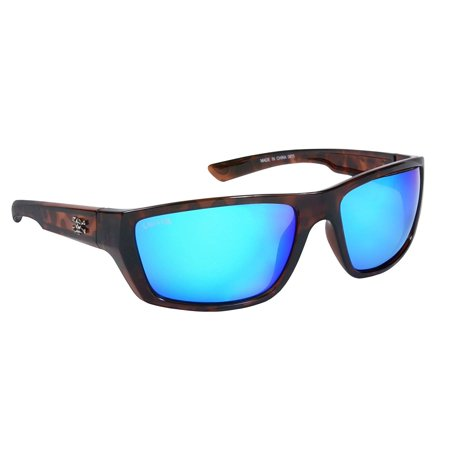 Calcutta SW1BMTORT Shock Wave Sunglasses, Tortoise Frame/Blue Mirror (Shock Sunglasses)