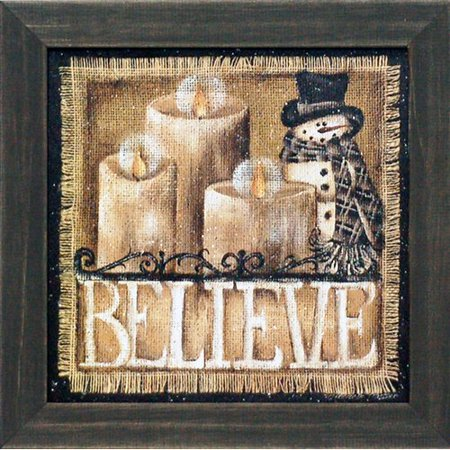 Artistic Reflections 'Believe Texture Coated Christmas' by Michelle Musser Framed Graphic